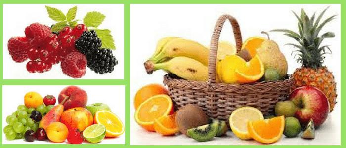 las frutas en la pirámide alimenticia