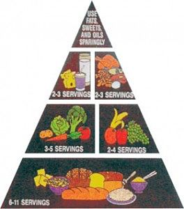 pirámide de los alimentos 1992 ,EEUU